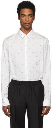 Fendi White and Pink Bag Bugs Shirt