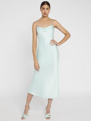 Alice + Olivia Harmony Slip Midi Dress With Slit