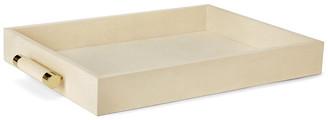AERIN Classic Shagreen Serving Tray - Cream