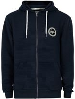 Hype Navy Ribbed Textured Hoodie*