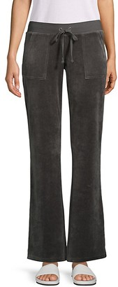 Juicy Couture Wide-Leg Cotton-Blend Drawstring Pants