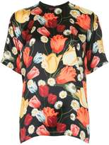 Mother of Pearl tulip-print T-shirt