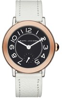 Marc Jacobs 'Riley' Leather Strap Watch, 36mm