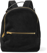 Sophie Hulme Wilson Medium Suede And Leather Backpack - Black