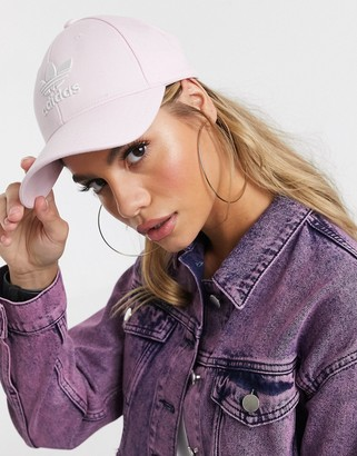 adidas trefoil logo cap in pink
