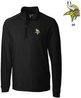 Cutter & Buck Men's Minnesota Vikings 3D Emblem Jackson Overknit Quarter-Zip Pullover