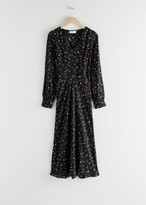 Thumbnail for your product : And other stories Floral V-Cut Midi Dress