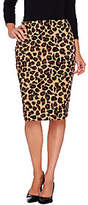 Dennis Basso Knit Animal Print Pencil Skirt