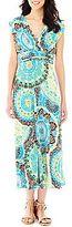 Liz Claiborne Ruched Maxi Dress - Petite