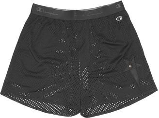 Rick Owens Black Basketball Mesh Shorts