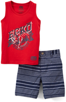 Ecko Unlimited Red & Blue Realist Tank & Stripe Shorts - Infant & Toddler