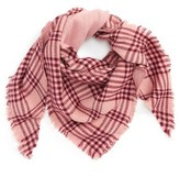 David & Young Women's Metallic Plaid Triangle Scarf
