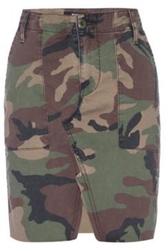 Hudson Camouflage-Print Denim Skirt