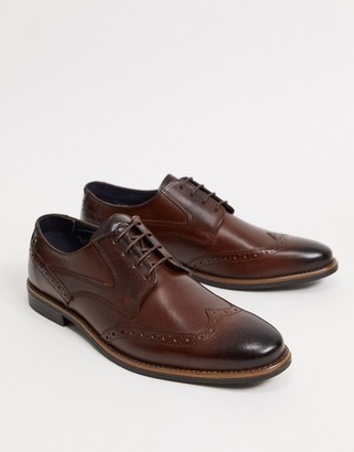 Base London Risco brogues in brown leather