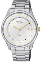 Citizen BD0041-54B Men Silver Stainless Steel Bracelet With White Dial Watch NWT