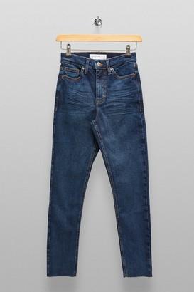 Topshop Womens Petite High Rise Indigo Jamie Skinny Jeans - Indigo