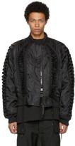 Kokon To Zai Black Lace-up Bomber Jacket