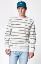 Obey Market Striped Pocket Crew Neck Sweatshirt