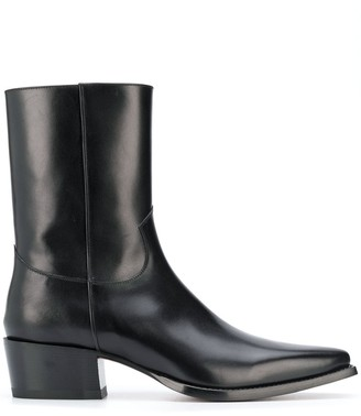 DSQUARED2 Leather Western Boots