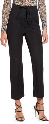 Leith Lace-Up Crop Pants