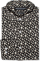 Nick Graham Men's Modern Fitted Happy Skulls Dress Shirt