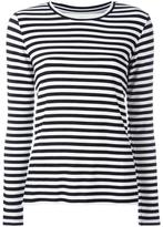 Majestic Filatures striped long sleeved top - women - Spandex/Elastane/Viscose - 1
