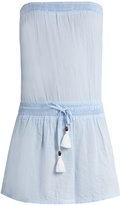 Heidi Klein Corsica strapless cotton-chambray dress
