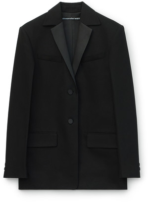 Collection Boxy Tuxedo Denim Blazer