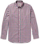 Canali - Button-down Collar Gingham Checked Cotton-poplin Shirt