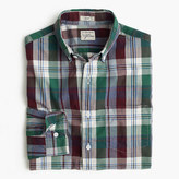 J.Crew Slim Secret Wash shirt in indigo plaid end-on-end cotton
