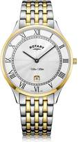 Rotary Watches Rotary Mens Two Tone Gold Pvd Ultra Slim