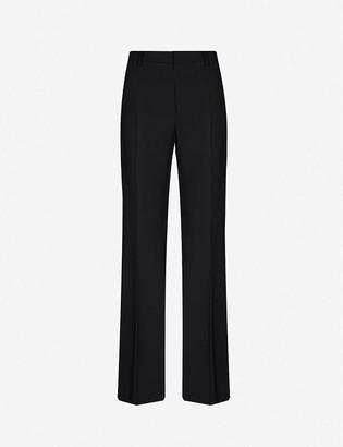 Alberta Ferretti Straight-leg mid-rise woven trousers