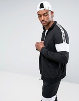 Hype Track Jacket In Black With Taping
