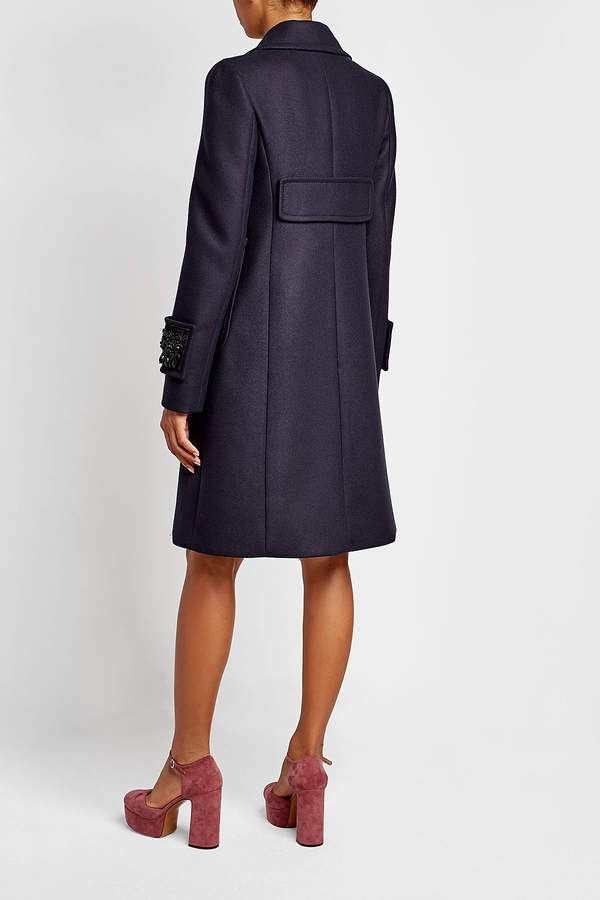 N°21 N21 Embellished Wool Coat with Cashmere