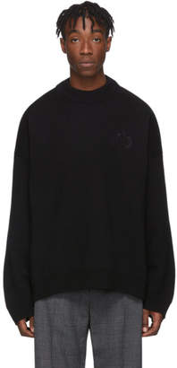 Balenciaga Black Wool and Cashmere Crewneck Sweater