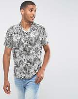 Burton Menswear Slim Short Sleeve Shirt In Print