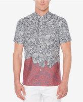 Perry Ellis Men's Luau Flower Print Shirt
