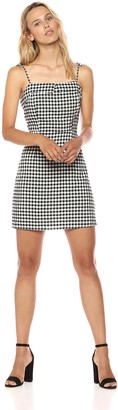 Cupcakes And Cashmere Women's Eddie Gingham Dress with Shoulder Ties