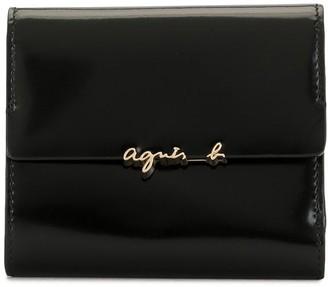 agnès b. Logo Plaque Wallet