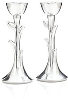 Nambe 'Tree Of Life' Sabbath Candlesticks