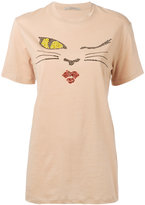 Ermanno Scervino embellished T-shirt - women - Cotton/Brass/glass - 36