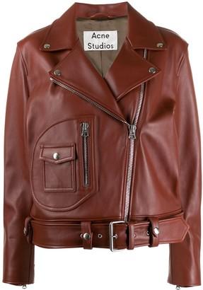 Acne Studios boxy biker jacket