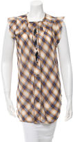 Marc Jacobs Embellished Plaid Top