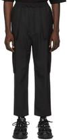 Juun.J Black Wool Cargo Pants