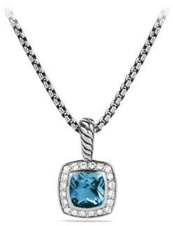David Yurman Albion Pendant Necklace with Hampton Blue Topaz and Diamonds
