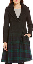 Zac Posen Fawn Ombre Plaid Coat