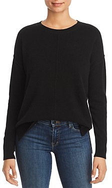 C by Bloomingdale's High/Low Cashmere Crewneck Sweater - 100% Exclusive