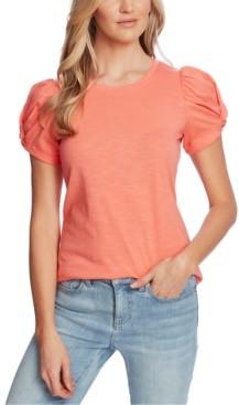 CeCe Puff-Sleeve Knit Top