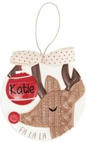 Mud Pie Reindeer Ornament With Personalization Sticker