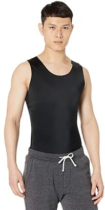 InstantRecoveryMD Compression Sleeveless Muscle Tank Top with 12 Side Zipper (Black) Men's Clothing